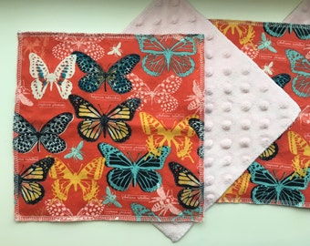 Cloth Minky Wipes, Baby Wash Cloth, Tissue - 5 pack - Butterfly