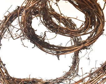 15' Grapevine and Twig Natural Garland / Rope / Ribbon / Wire