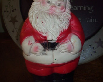 "8 1/4"" Squeaky Santa Claus Christmas Collectible Decoration"