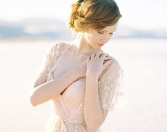 Wedding Cover up, Beaded Bridal Cover up, Blush Lace Cover up, Bridal Jacket, Lace Jacket, Wedding Shrug, Ivory Wedding Robe - Style 418
