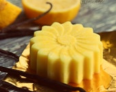 Lemonilla Solid Lotion Bar - Organic Natural All purpose moisturizer with Mango butter, Coconut oil, Lemon, Vanilla.