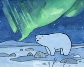 Polar and Northern Lights - Set of 10 cards