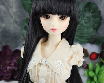 "Fatiao - New Dollfie SD 1/3 BJD Dolls long Wig size 8-9"" - Black"