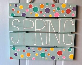 Spring Pallet Sign