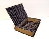 Hollow Book Safe Captains Courageous Cloth Bound vintage Secret Compartment Keepsake Hidden Security Box