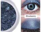 Mineral Makeup, Blueberry Eyeshadow, Smokey Sultry Sexy, Vegan Make Up, Cruelty Free Cosmetics, Best Blue Shimmer, Long Wearing, No Creasing
