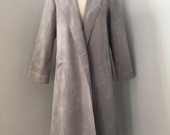 Adolph Schuman For Lilli Ann Vintage Ultrasuede Coat. Small/Medium. Washable