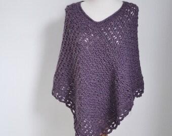 PRIYA, Crochet poncho pattern, pdf