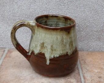Beer stein tankard large mug hand thrown stoneware pottery
