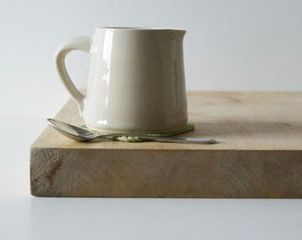 Cafe style pouring jug for milk - hand thrown in stoneware and glazed in simply clay
