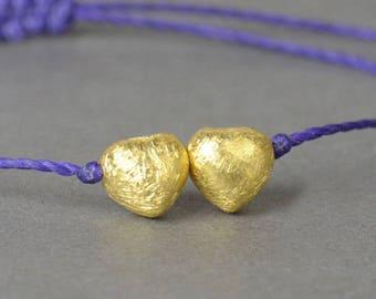 Gold  hearts Vermeil  bracelet