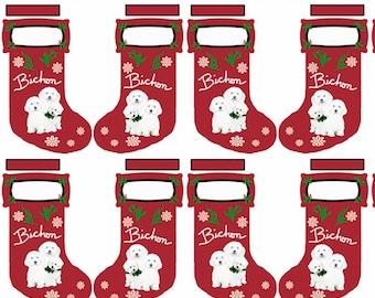 Bichon Cut and Sew Christmas stocking