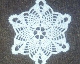 D-77. Crochet doily Coaster White Doily Crochet Lace Doily Round Doily Valentine's Day Christmas doily