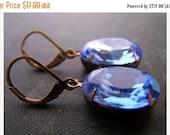 SALE Bijou Blue - Vintage Glam Earrings
