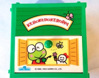Vintage 1993 Sanrio Keroppi Frog Plastic 2 Drawer Jewelry Box