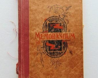 Vintage Memorandum Book 1920's