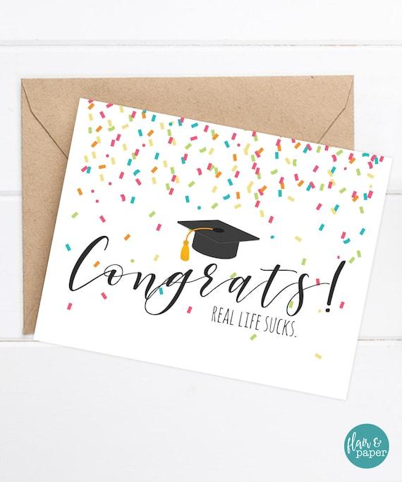 Congratulations Grad Card Funny Graduation Card Grad Card