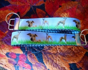 Breed Specific Key Fob Featuring a Grey Hound