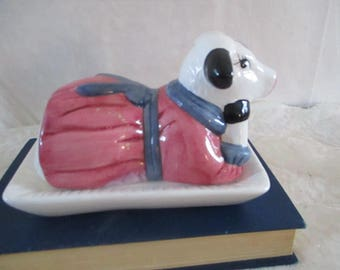 Cow butter dish Dressed Holstein Cow