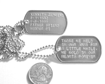 Embossed Military Dog Tags