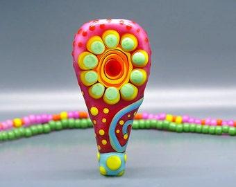 Happy Flower - Art Glass by Michou P. Anderson - ( Label: Sonic & Yoko )