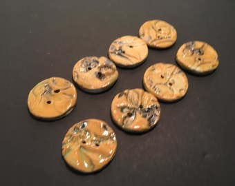 Buttons ceramic approximately one plus inch to useceithyour craft projects