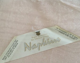Vintage Silk Effect Paper Naokins, Japanese Tissue Paper Napkins, Pale Pink, Made in USA, Vintage Party Supply, Vintage Wedding