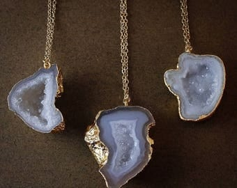 50% OFF Gold Geode Necklaces - Choose Your Geode - 14K Gold Filled