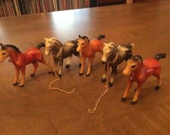 Vintage Plastic ponies