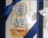 Blue and White Louis Chair