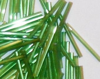 Bugle Beads- Lime Green
