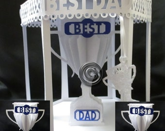 Dad Trophy & Box TF0032, SVG,MTC,SCAL,Cameo,Cricut,ScanNCut
