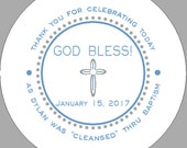 BAPTISM tags - Blue & gray -  RESERVED