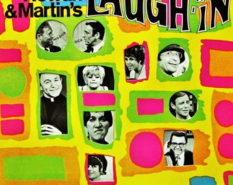 LAUGH IN, Vinyl Record, Near Mint/Excellent Condtn. Vintage 1968 TV Comedy Sound Track, Rowan & Martin, Goldie Hawn Tiny Tim Lily Tomlin