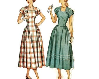 1940s Summer Dress Pattern Simplicity 2598406 B36 sz 18