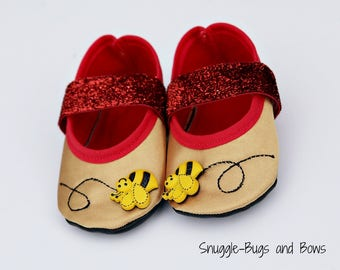 Bear Play Slippers (Sizes 1 - 12) MEASURE your child's foot PLEASE