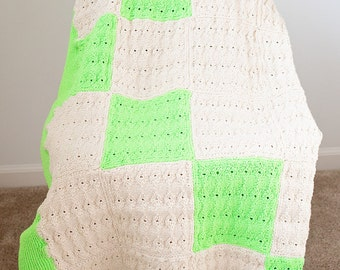 SALE Bright and Fun Crochet Afghan Blanket