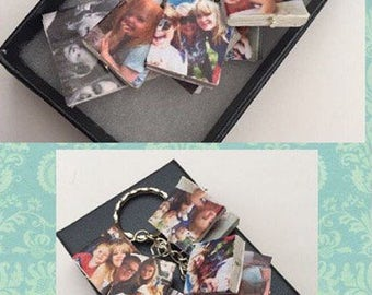 Novelty fun photograph personalised miniature books keyring.