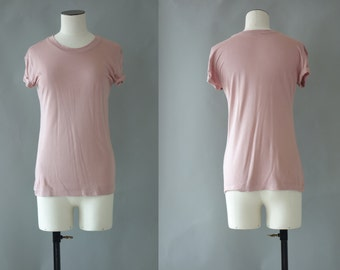 Dusty pink tshirt | 1990's by cubevintage | small
