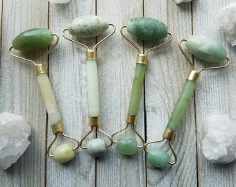 Jade Roller, Anti Aging, Natural Stone, Healthy Skin, Facial, Face & Neck, Relaxation, Massage, For a Beautiful Face
