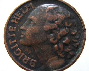 "1934 Italy ADVERTISING FILM ""GOLD"" German actress Brigitte Helm Token bronze medallion"