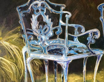 Garden original oil painting