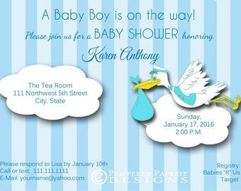 Baby Shower Invitation - 3-D Invitation - Unique Shower Invitation