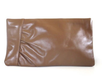 Vintage Neusteters of Denver Leather Line Brown Leather Clutch/Purse