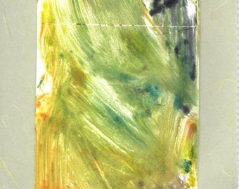 Abstracted-Monotype Mixed Media Print- 8 x 12 -Edition of 1