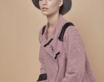 NEW! wrap sweater jacket - cardigan sweater - wrap jacket - wrap top - cozy sweater - chunky sweater - pink sweater - WrapSweater