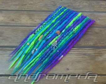 20SE or 10DE CUSTOM Crocheted Dreadlock Extensions - Made to Order Synthetic Dread Set - FREE SHIPPING!