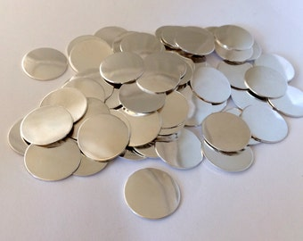 Bulk OverStock Sale Sterling Silver Discs 3/4 Inch 22 Gauge Round Circle Disks Best Clearance Price Great for Hand Stamping