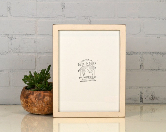 8.5 x 11 Picture Frame in Peewee Style with Vintage Ivory Off White Finish - IN STOCK Same Day Shipping - 8.5x11 Modern Picture Frame