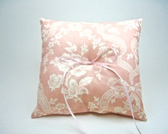 Blush Ring Pillow Floral Ring Pillow Custom Ring Pillows Ring Pillows Blush Floral Ring Pillow Wedding Pillow